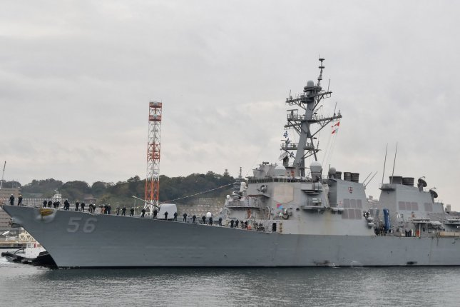 Arleigh Burke-class destroyer USS John S. McCain (DDG-56) arrives after conducting comprehensive at-sea testing at Fleet Activities Yokosuka in Yokosuka, Kanagawa-Prefecture, Japan on Sunday November 3, 2019. McCain has been in maintenance since mid-December of 2017 after an Aug. 21, 2017, collision between the warship and the chemical tanker Alnic MC that resulted in the death of 10 sailors. Photo by MORI Keizo/UPI
