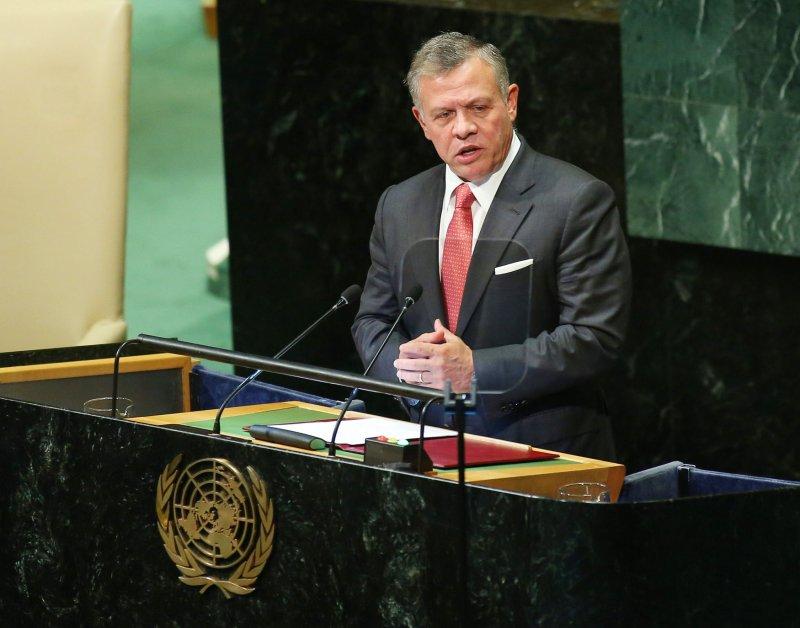 King Abdullah II bin Al-Hussein of Jordon speaks at the 73rd General Debate at the United Nations General Assembly at United Nations Headquarters at in New York City on September 25, 2018. Photo by Monika Graff/UPI