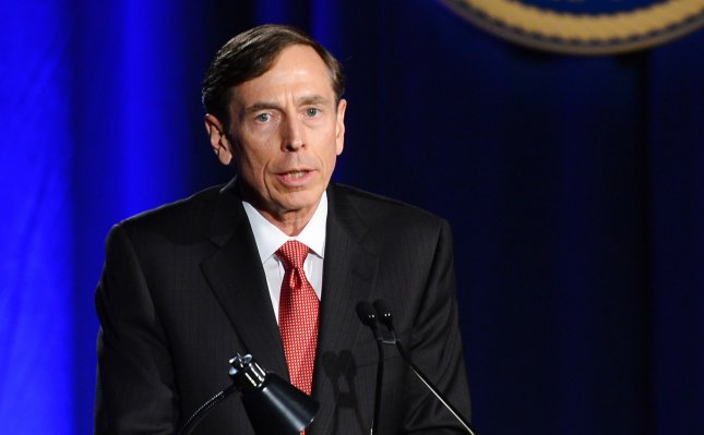 Former CIA director and retired four-star general General David Petraeus makes his first public speech since resigning as CIA director at University of Southern California dinner for students Veterans and ROTC students on in Los Angeles on March 26, 2013. Petraeus apologized in his speech for the extramarital affair that ended his career. UPI/Jim Ruymen
