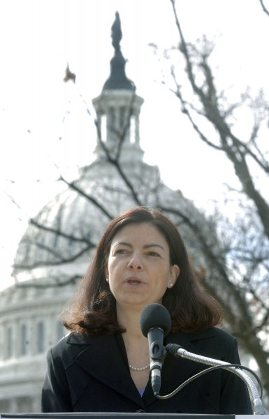 Attorney General for New Hampshire Kelly Ayotte speaks at a National Foundation for Women Legislators rally on a call to action to promote communication before crisis, in Washington on March 8, 2006. (UPI Photo/Kevin Dietsch)