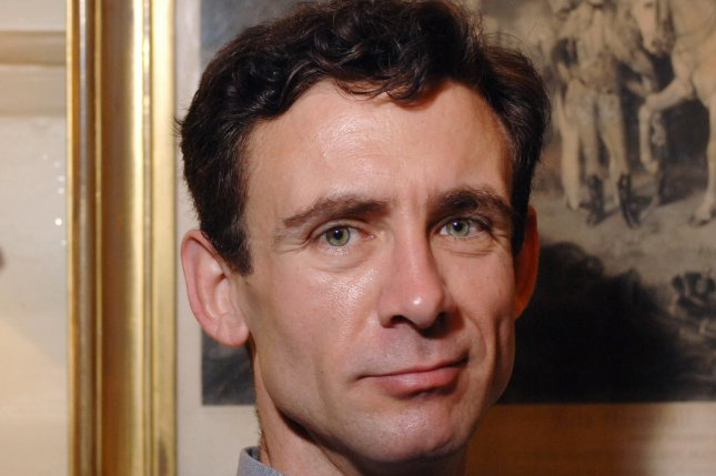 American bestselling author of Fight Club Chuck Palahniuk at a photosession at the Hazlitt's Hotel in London on May 2,2006. (UPI Photo/Rune Hellestad)