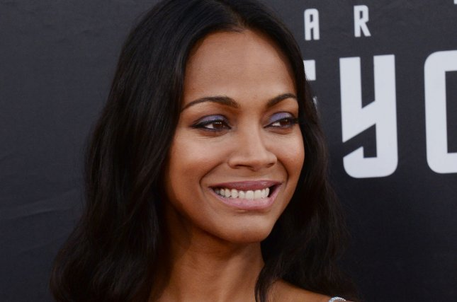 Cast member Zoe Saldana attends the premiere of the sci-fi motion picture thriller Star Trek Beyond in San Diego on July 20, 2016. Photo by Jim Ruymen/UPI