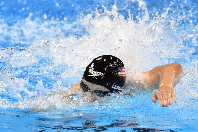 Katie Ledecky, of the United States, competes and wins the gold medal in the Women's 200m freestyle with a time of 1:53.73 at the Olympic Aquatics Stadium at the 2016 Rio Summer Olympics in Rio de Janeiro, Brazil, on August 9, 2016. Photo by Kevin Dietsch/UPI