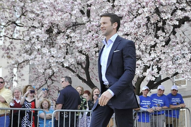 Former Rep. Aaron Schock's campaign pleaded guilty to a misdemeanor charge, but all individual charges against the former lawmaker will be dropped. File Photo by Brian Kersey/UPI