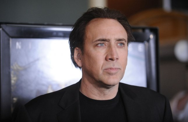 Cast member Nicolas Cage attends the premiere of the film Drive Angry at the Arclight theater in the Hollywood section of Los Angeles on February 22, 2011. UPI/Phil McCarten