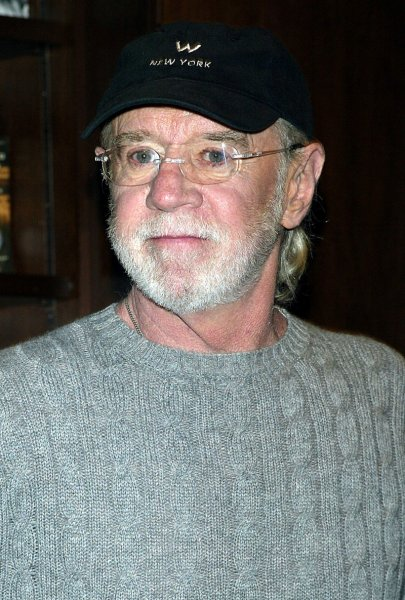 George Carlin seen in this October 2004 file photo. (UPI Photo/Laura Cavanaugh)