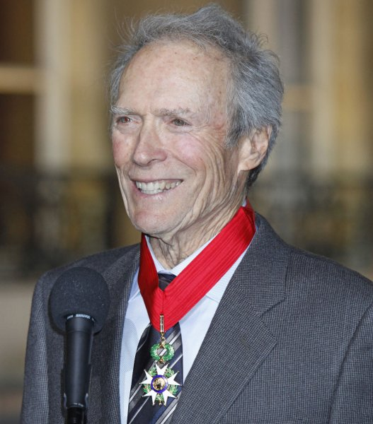 Actor/director Clint Eastwood sports the French Legion of Honor medal given to him by French President Nicolas Sarkozy during a ceremony at the Elysee Palace in Paris on November 13, 2009. Former French President Jacques Chirac had honored Eastwood as a knight of the Legion of Honor two years ago but Eastwood's latest decoration was a step up to grade three (commander) on the legionÕs five-grade scale. UPI/David Silpa