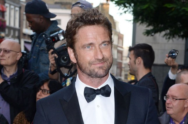 Gerard Butler at the GQ Men of the Year Awards on September 3, 2014. The actor stars in a first London Has Fallen teaser trailer. File photo Rune Hellestad/UPI