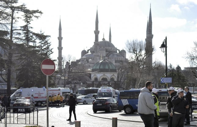 The U.S. Embassy in Turkey has released an announcement to citizens to exercise extreme caution when in tourist areas and public squares, especially in Instanbul and Antalya, after threats were deemed credible. File Photo by Ali Turkel/UPI