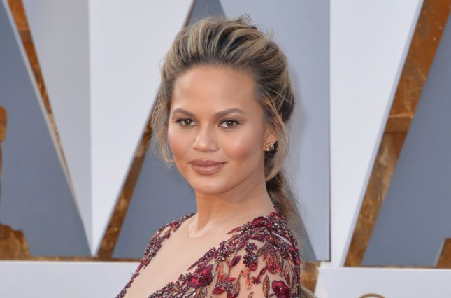 Chrissy Teigen at the Academy Awards on February 28. File Photo by Kevin Dietsch/UPI
