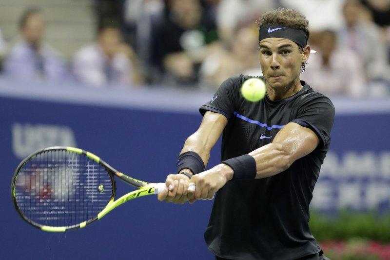 Rafael Nadal of Spain.. Photo by John Angelillo/UPI