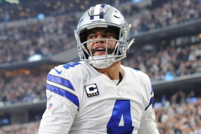 Viewers will get a behind-the-scenes look at Dallas Cowboys quarterback Dak Prescott and his recovery from a season-ending injury during the 2021 edition of HBO's Hard Knocks. FilePhoto by Ian Halperin/UPI