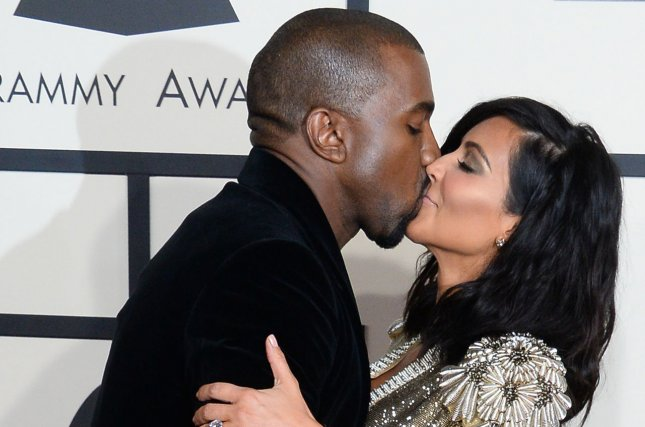 Rapper Kanye West and Kim Kardashian arrive for the 57th Grammy Awards in Los Angeles on February 8, 2015. File Photo by Jim Ruymen/UPI