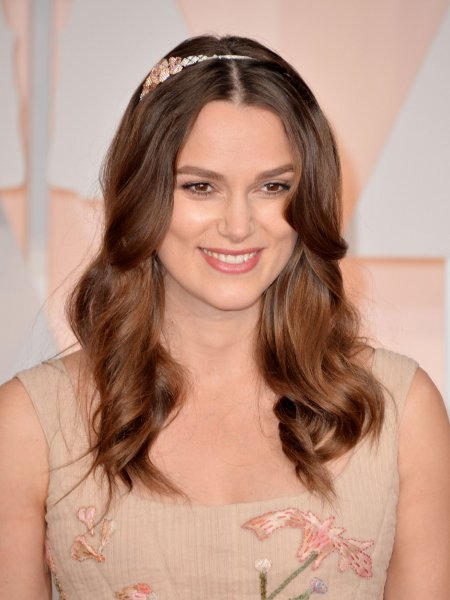 Keira Knightley arrives on the red carpet at the 87th Academy Awards in Los Angeles on February 22, 2015. The actress was seen this week in the new trailer for the upcoming Love Actually sequel short. File Photo by Kevin Dietsch/UPI