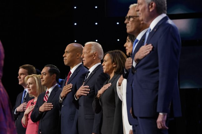 Democratic presidential candidates take the stage in the second round of primary debates at the Fox Theater in Detroit on July 31. Photo by Edward M. PioRoda/CNN