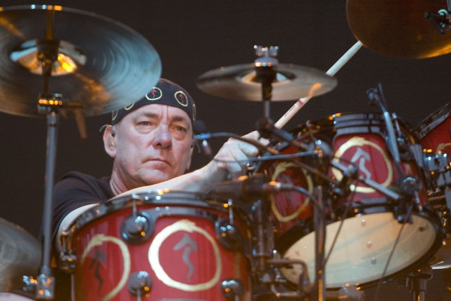 Rush's drummer, Neil Peart, died 3.5 years after being diagnosed with brain cancer. File Photo by Jim Bryant/UPI