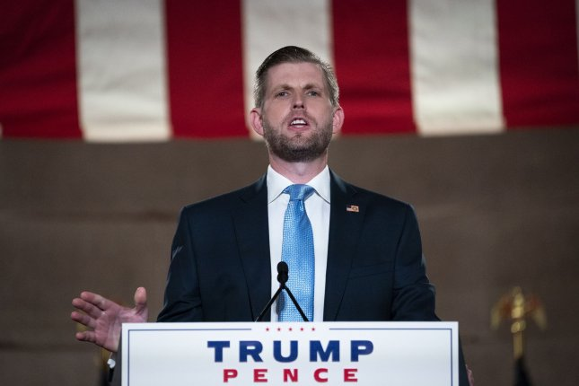 Eric Trump, son of U.S. President Donald Trump, must give his deposition concerning an ongoing investigation into his father and the Trump Organization, which he is its executive vice president, no later than Oct. 7. Pool Photo by Chip Somodevilla/UPI