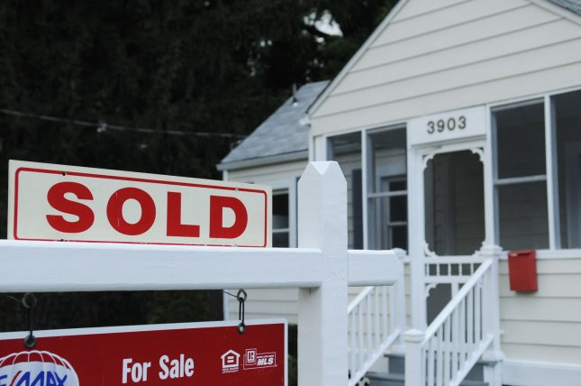 A sold sign outside a home recently for sale is seen in Arlington, Virginia on July 23, 2009.(UPI Photo/Alexis C. Glenn)