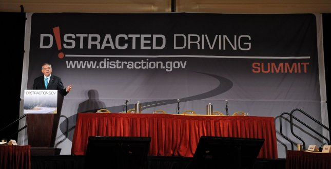 Man behind 'designated driver' plans distracted driving campaign. Secretary of Transportation Ray LaHood speaks during a Distracted Driving summit hosted by the Transportation Department at a hotel in Washington. UPI/Roger L. Wollenberg