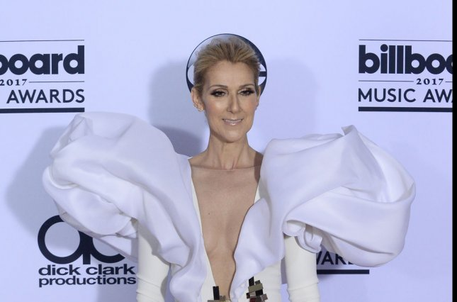 Celine Dion appears backstage during the annual Billboard Music Awards held at T-Mobile Arena in Las Vegas on May 21. The singer turns 50 on March 30. File Photo by Jim Ruymen/UPI