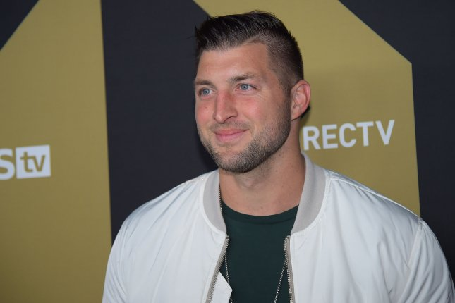 Tim Tebow is now 2-for-9 at the plate during 2019 spring training for the New York Mets after going 2-for-3 Monday against the Boston Red Sox. Photo by Will Newton/UPI