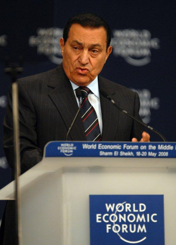 File photo of Egyptian President Hosni Mubarak dated May 18, 2008. (UPI Photo)