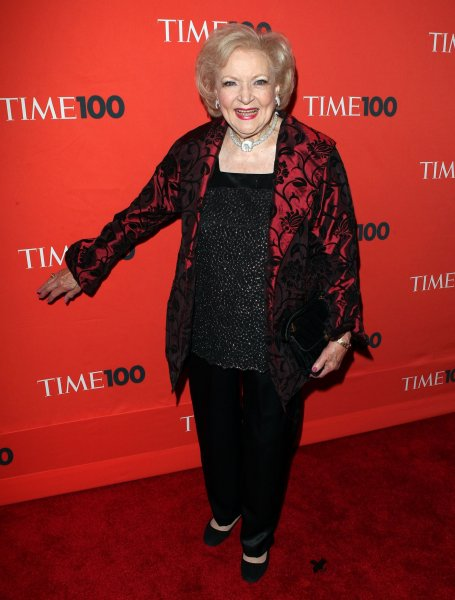 Betty White arrives at Time Magazines 100 Most Influential People Gala at the Time Warner Center in New York City on May 4, 2010. UPI/John Angelillo