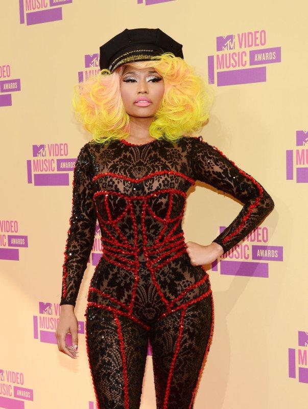 Singer Nicki Minaj arrives for the MTV Video Music Awards at Staples Center in Los Angeles on September 6, 2012. UPI/Jim Ruymen