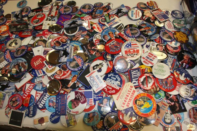 Political memorabilia collectors gather in Las Vegas on August 06, 2008. The bi-annual convention of American Political Items Collectors featuring campaign buttons, badges, posters and other items is the largest in the nation. (UPI Photo/Daniel Gluskoter)
