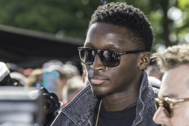Victor Oladipo of the Indiana Pacers appears on the red carpet before the 102nd running of the Indianapolis 500 at the Indianapolis Motor Speedway on May 27 in Indianapolis. Photo by Edwin Locke/UPI