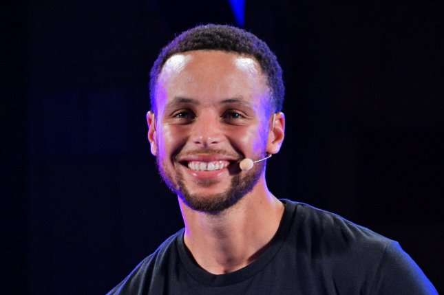 Golden State Warriors guard Stephen Curry attends an event for Under Armour on September 11 in Tokyo. Photo by Keizo Mori/UPI