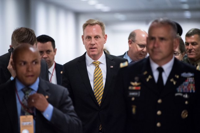 Acting Defense Secretary Patrick Shanahan said reports that the Trump administration was considering sending 10,000 or 5,000 troops to the Middle East were incorrect. Photo by Kevin Dietsch/UPI