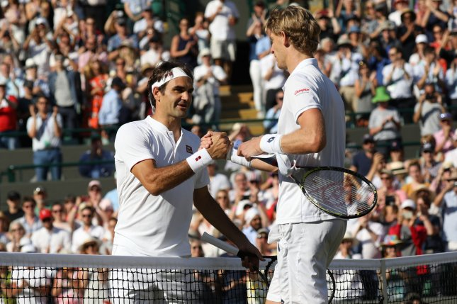 ATP stars like Roger Federer (L) and Kevin Anderson (R) now have access to a 24-hour helpline for therapists to aid them amid the coronavirus pandemic. File Photo by Hugo Philpott/UPI