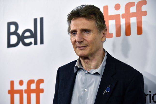 Liam Neeson, star of Martin Campbell's action thriller Memory, arrives for the world premiere of Widows the Toronto International Film Festival in 2018. File Photo by Christine Chew/UPI