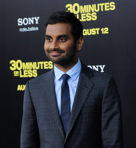 Aziz Ansari, a cast member in the motion picture crime comedy 30 Minutes or Less, attends the premiere of the film at Grauman's Chinese Theatre in the Hollywood section of Los Angeles on August 8, 2011. UPI/Jim Ruymen