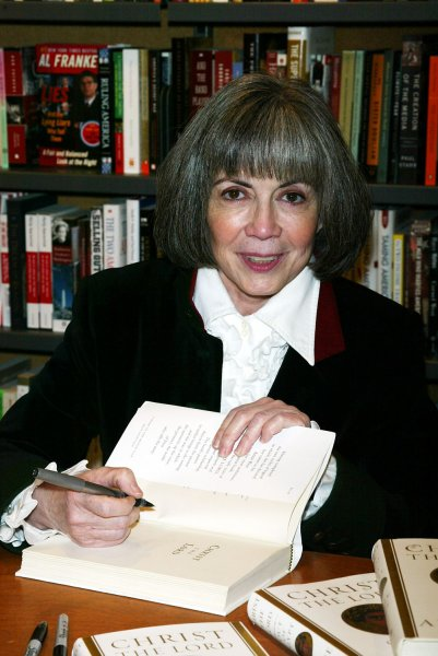 Anne Rice signs copies of her new book Christ the Lord at Posman's Bookstore at Grand Central Station in New York on November 1, 2005. (UPI Photo/Laura Cavanaugh)