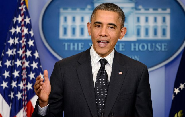 President Barack Obama speaks about the move by the Democratic-controlled Senate to revoke the right of the Senate minority party to filibuster, or invoke the so-called 'nuclear option', during a press conference in the Brady Briefing Room of the White House on November 21, 2013 in Washington, DC. Senate Democrats voted to change filibuster rules, overturning decades of precedent and clearing the way for approval of Obama appointees on a simple majority vote. UPI/Olivier Douliery/Pool