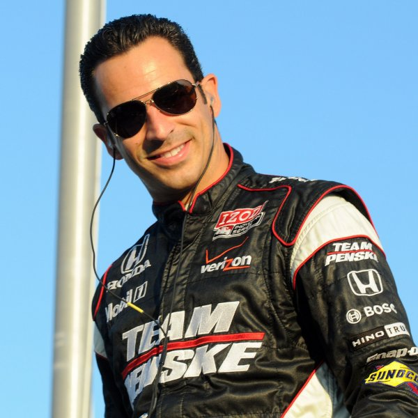 Indy car driver Helio Castroneves walks to driver introductions prior to the IRL Cafe do Brasil Indy 300 at Homestead-Miami Speedway in Homestead, Florida on October 2, 2010. UPI/Christina Mendenhall