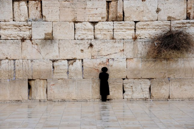 An Ultra-Orthodox Israeli prays at the Western Wall, Judaism's holiest site, in the Old City of Jerusalem, December 13, 2010. UPI/Debbie Hill