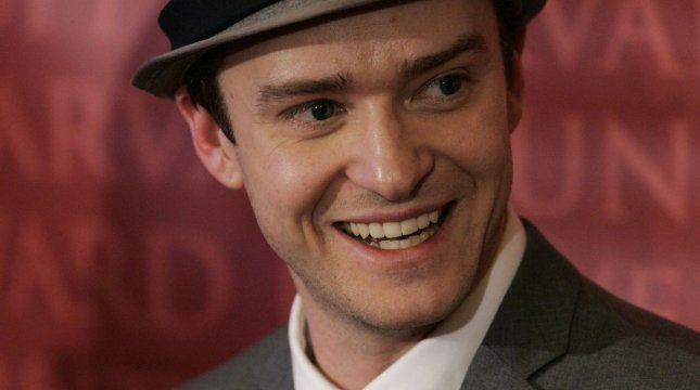 Singer/actor Justin Timberlake speaks at a press conference after being presented with the Pudding Pot trophy as Harvard University Hasty Pudding Theatrical's Man of the Year inside the New College Theatre in Cambridge, Massachusetts on February 5, 2010. UPI/Matthew Healey