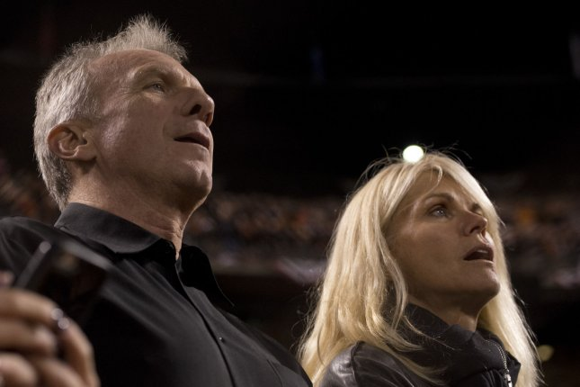 Hall of Fame quarterback Joe Montana and his wife, Jennifer, stopped an attempted kidnapping Saturday after an unknown woman entered their Malibu home and grabbed their grandchild. File Photo by Terry Schmitt/UPI