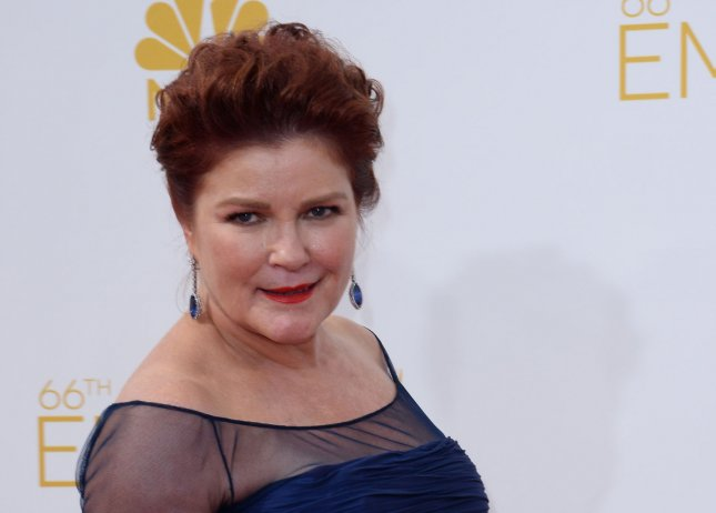 The book Star Trek: Voyager -- A Celebration includes a new interview with show star Kate Mulgrew. File Photo by Jim Ruymen/UPI