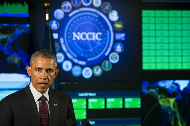 President Barack Obama recently said that cyber-threats are becoming more diverse, sophisticated and dangerous. File photo by UPI/Photo by Kristoffer Tripplaar/Pool