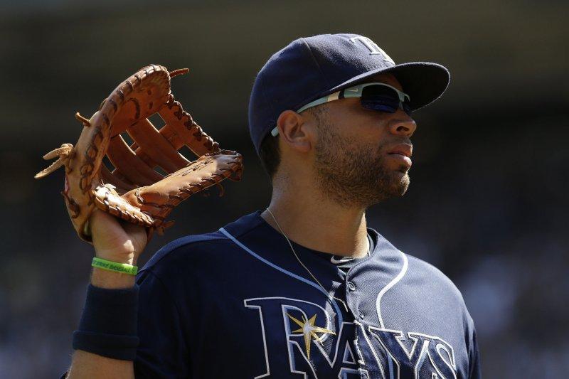 Tampa Bay Rays' James Loney. Photo by John Angelillo/UPI