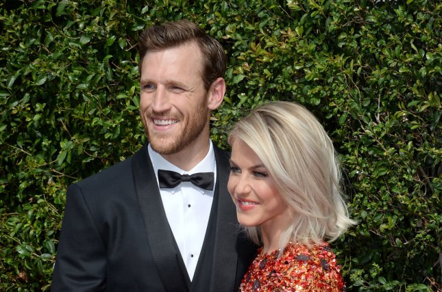 Julianne Hough (R) and Brooks Laich attend the Creative Arts Emmy Awards on September 12, 2015. The couple got engaged in 2015. File Photo by Jim Ruymen/UPI