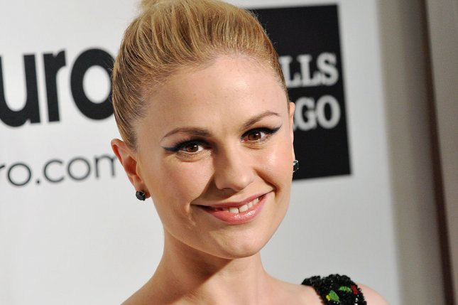 Anna Paquin arrives for the Elton John AIDS Foundation Academy Awards Viewing Party in Los Angeles on March 2, 2014. Paquin's eight-part drama Bellevue is to premiere on WGN America in 2018. File Photo by Christine Chew/UPI