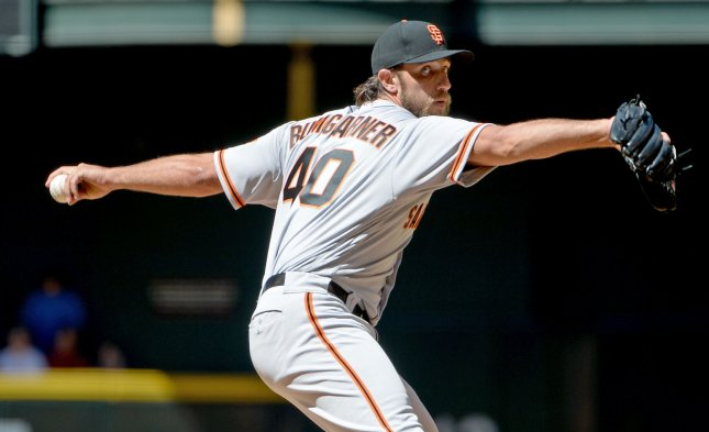 Madison Bumgarner and the San Francisco Giants face the New York Mets on Thursday. Photo by Art Foxall/UPI
