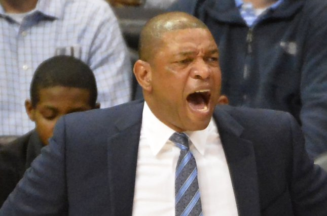 Los Angeles Clippers head coach Doc Rivers will lead his team against the Washington Wizards on Sunday. Photo by David Tulis/UPI