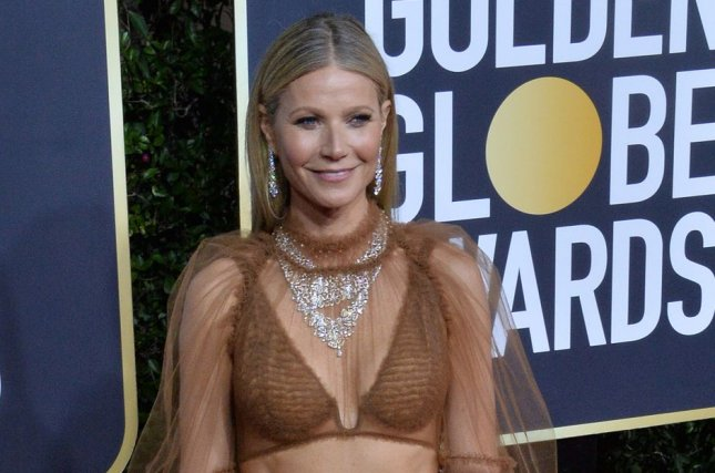 Gwyneth Paltrow discussed her friendship with her ex-husband, Chris Martin, and his girlfriend, Dakota Johnson, in a Harper's Bazaar interview. File Photo by Jim Ruymen/UPI