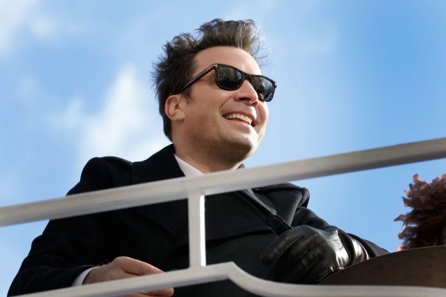 Jimmy Fallon will give a motivational speech to graduating students, along with other celebrities such as Halsey, on a new podcast. File Photo by Peter Foley/UPI